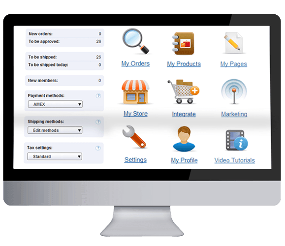 Fully featured shopping cart software service