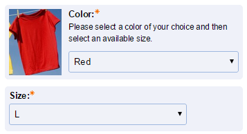 Attributes make it easy for customers to select a variation of a product