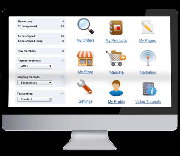 Logiciel avec panier d'achat et services e-commerce tout-en-un